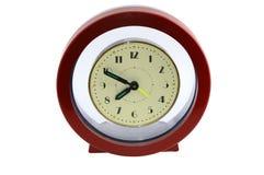 Horloge ronde sur le blanc Images stock