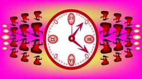 Horloge rose Photo stock