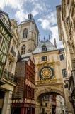 Horloge in Rouen Lizenzfreies Stockbild