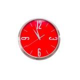 Horloge rouge Images libres de droits