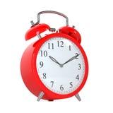 Horloge rouge Photo stock