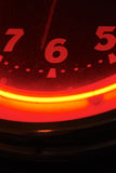 Horloge rouge Images stock