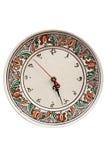Horloge roumaine traditionnelle de poterie Photo libre de droits