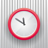 Horloge simple du rouge e illustration stock