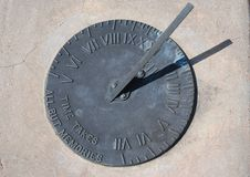 Horloge solaire Image libre de droits