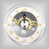 Horloge-squelette. Photographie stock libre de droits