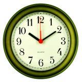 Horloge sur 10 dix passés Photos stock