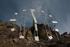 Horloge sur la colline Image libre de droits
