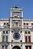 Horloge sur la place de San Marco Photos stock