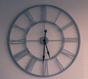 Horloge sur le fond blanc Images stock