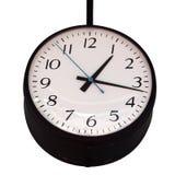 Horloge sur le fond blanc Photographie stock libre de droits