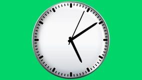Horloge sur le fond vert illustration de vecteur