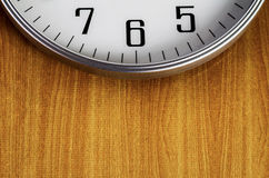 Horloge sur le mur Image libre de droits