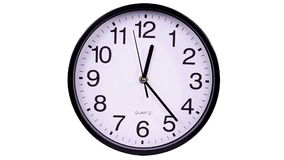 Horloge sur un blanc 00,00 TimeLapse banque de vidéos