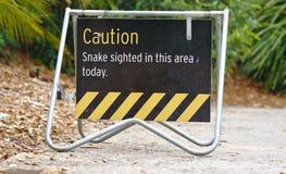 Horloge uit voor slangteken in park royalty-vrije stock afbeeldingen