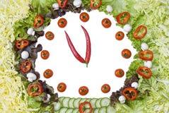 Horloge végétale photo stock