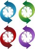 Horloge vers l'arrière Images libres de droits