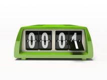 Horloge verte Images libres de droits