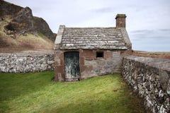 Horlogehuis bij Kirkside-Begraafplaats, St Cyrus, Aberdeenshire, Schotland stock afbeelding