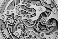 Horlogemachines met toestellen Stock Afbeelding