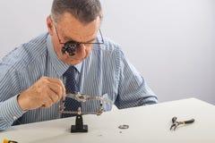 Horloger photographie stock libre de droits