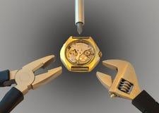 Horlogereparatie Stock Fotografie