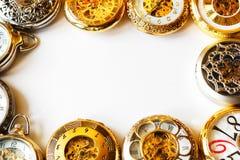 Horloges avec l'espace blanc Images stock