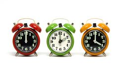 Horloges d'alarme Image libre de droits