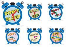 horloges d'alarme Photos stock