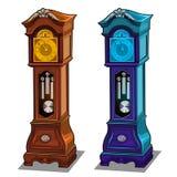 Horloges de grand-père antiques élégantes faites de bois illustration libre de droits