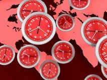 Horloges du monde illustration stock