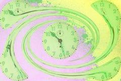 Horloges en spirale Images libres de droits