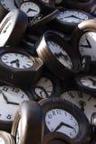 Horloges endommagées Images libres de droits