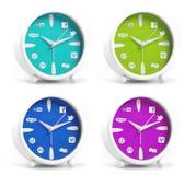 Horloges sociales Photos libres de droits