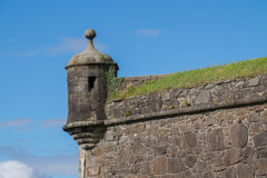 Horlogetoren in Stirling Castle, Schotland Stock Foto's