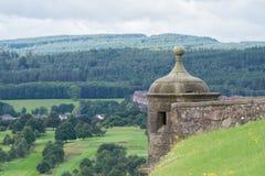 Horlogetoren in Stirling Castle, Schotland Stock Foto