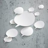 Hormigón biselado del diseño de Infographic de las burbujas del discurso stock de ilustración