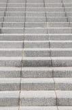 Hormigón blanco de la escalera Imagen de archivo