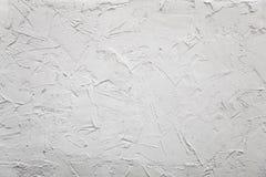 Hormigón blanco del yeso de la pared del yeso caótico imagen de archivo libre de regalías