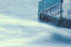 Hormigón en agua Imágenes de archivo libres de regalías