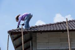 Hormigón del tejado imagen de archivo