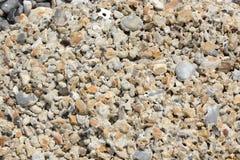 Hormigón erosionado en la playa Foto de archivo
