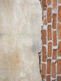 Hormigón y pared de ladrillo para el fondo Foto de archivo