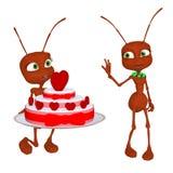 Hormiga en amor Imágenes de archivo libres de regalías