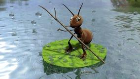 Hormiga en la hoja Imágenes de archivo libres de regalías