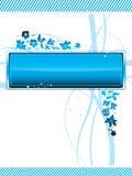 Hormiga y backgrownd azul de la flor Foto de archivo