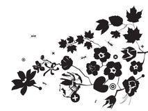 Hormiga y flowerses Imágenes de archivo libres de regalías