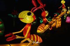 Hormigas en una oscilación Foto de archivo libre de regalías