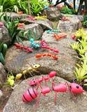 Hormigas gigantes sintéticas de PThe como decoración del jardín en el jardín tropical de Nong Nooch Fotografía de archivo libre de regalías