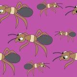 Hormigas lindas modelo com?n incons?til del vector stock de ilustración